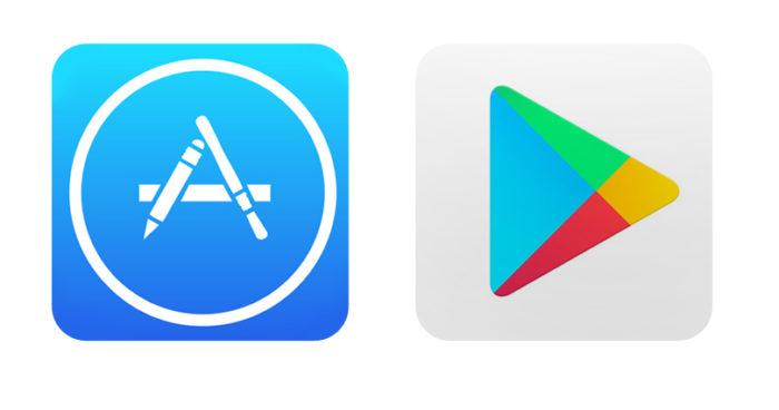 App Store & Google Play logos
