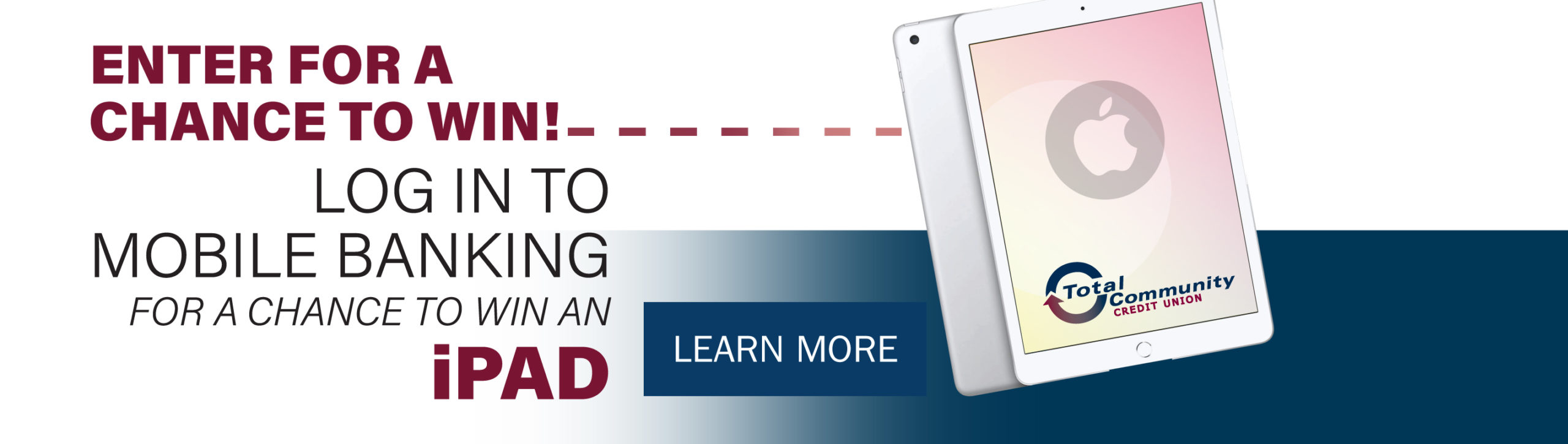 log in to mobile banking to enter raffle for ipad prize
