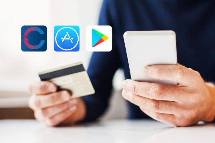 credit/debit card and smart phone