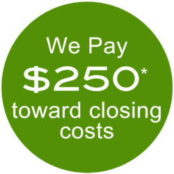 we pay $250 toward closing costs